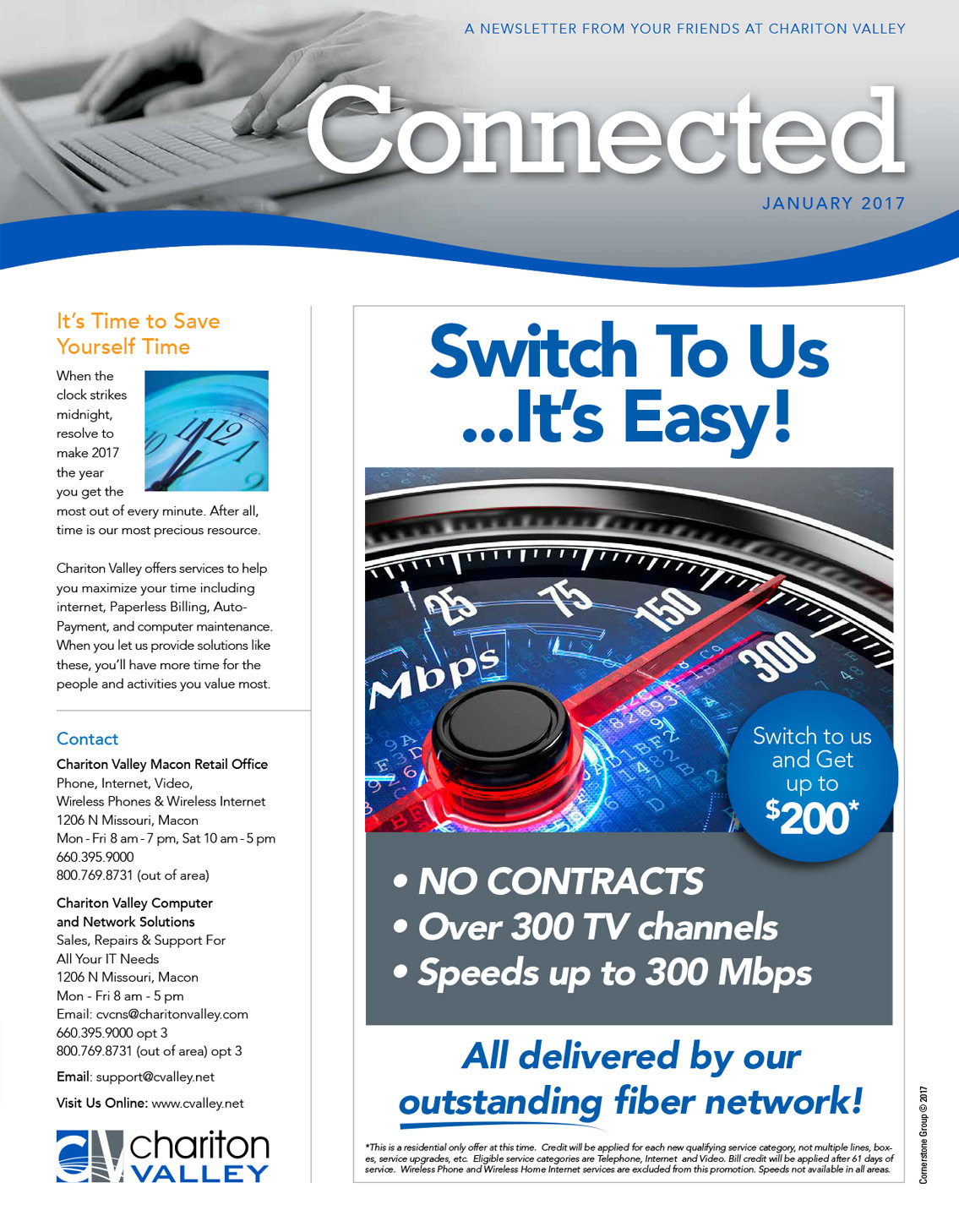 internet service provider hybrid print newsletter sample 1