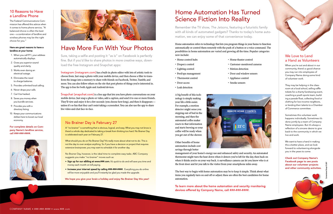 cornerstone group products print newsletters